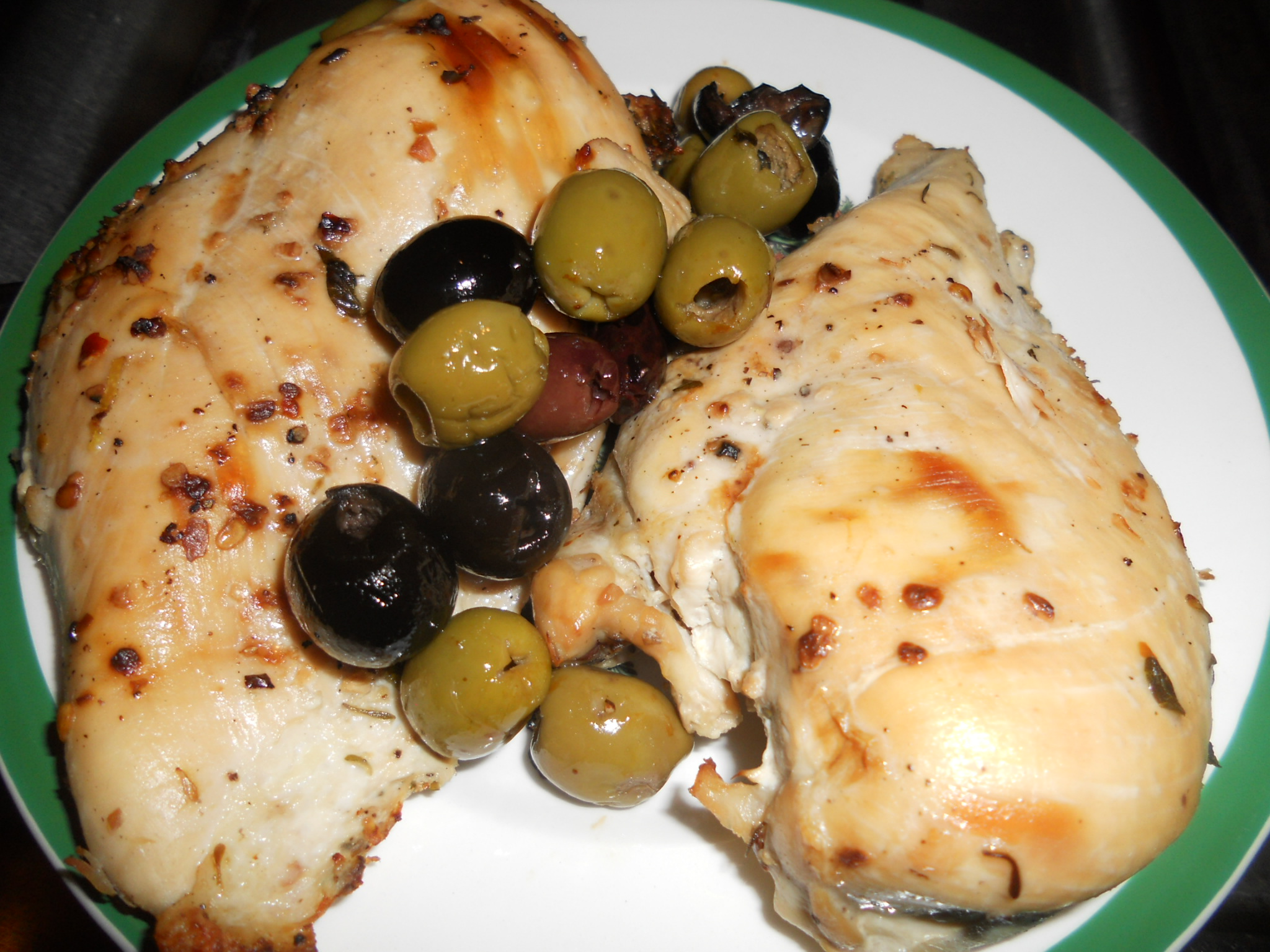 Roast Chicken with Olives | 2 Peas in a Blog